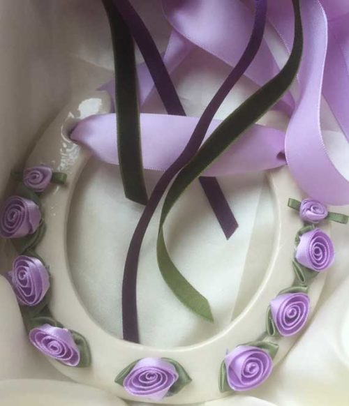 lilac and cream wedding gift