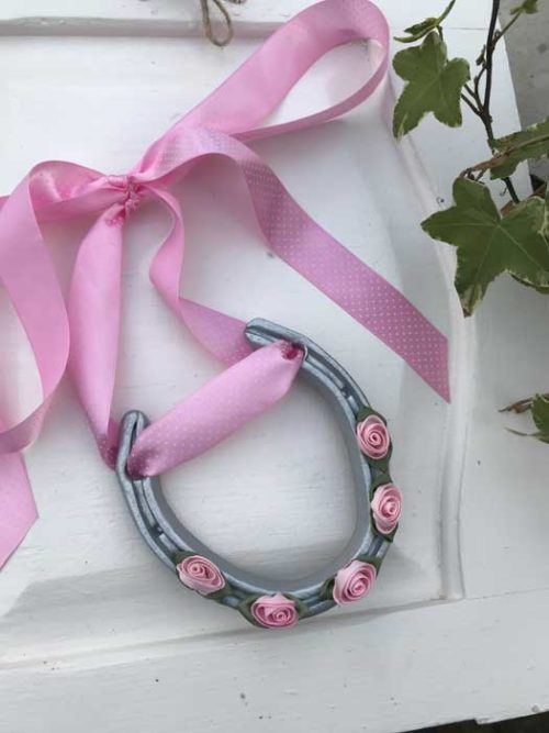 pink good luck horseshoe
